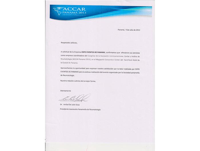 ACCAR Panamá 2013