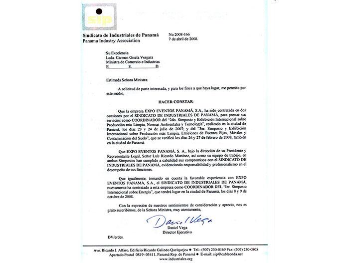 SINDICATO DE INDUSTRIALES DE PANAMÁ 2008