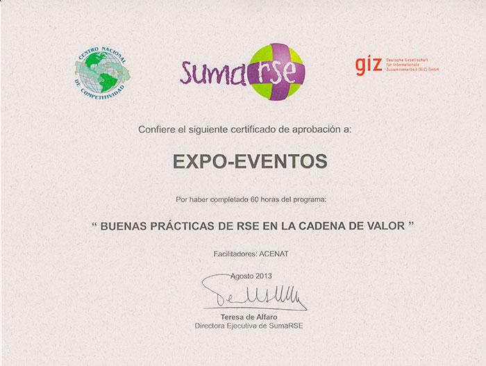 Buenas prácticas de RSE en la Cadena de Valor 2013